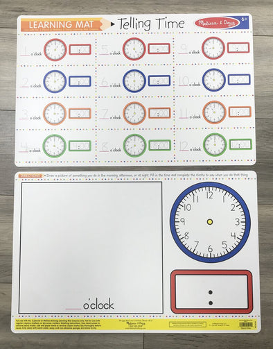 Learning Mat, Telling Time