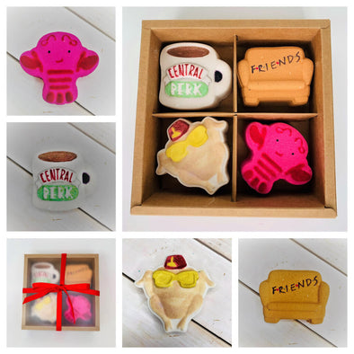Friends Bath Bomb 4pc Gift Set