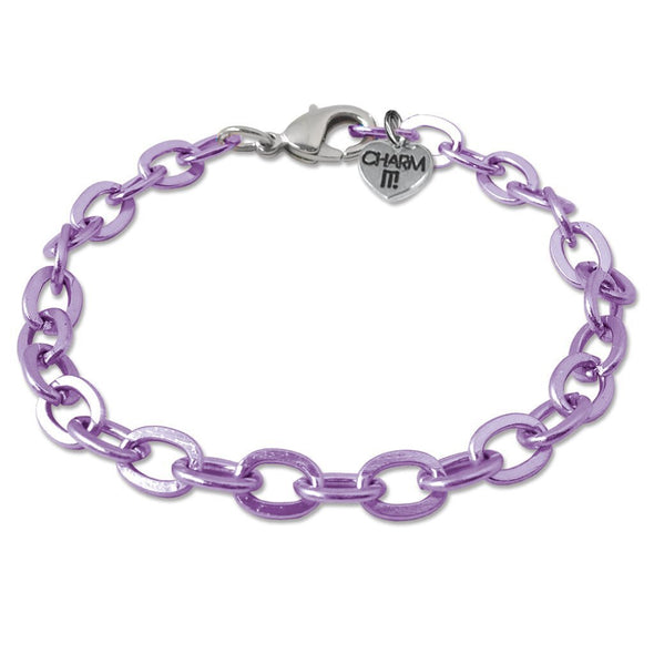 CHARM IT! Purple Chain Bracelet