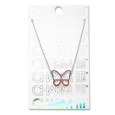 Charm It! Rhinestone Butterfly Necklace