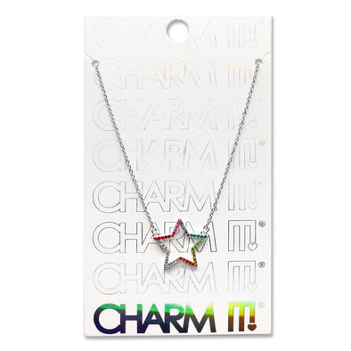 Charm It! Rhinestone Star Necklace