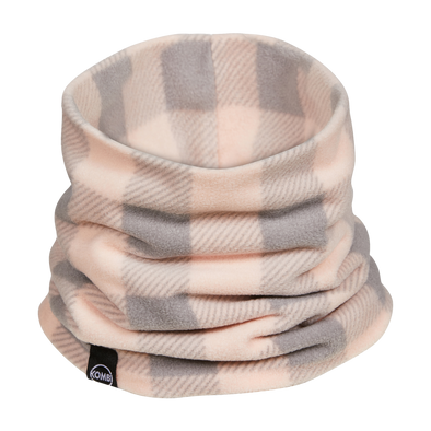 The Comfiest Neck Warmer Jr, Glass Pink Buffalo Plaid (age 6-12y)