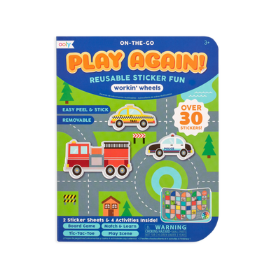 Ooly Play Again Mini On The Go Activity Kit, Workin' Wheels