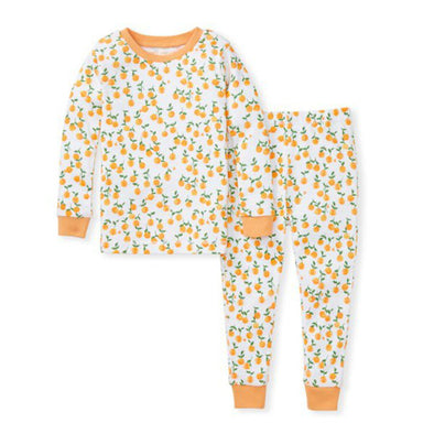 Burt's Bees Tee & Pant PJ Set, Freshly Picked Oranges