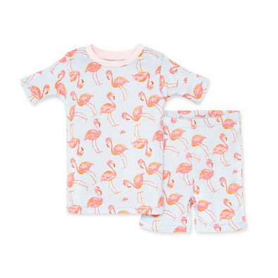 Burt's Bees Tee & Short PJ Set, Fancy Flamingo