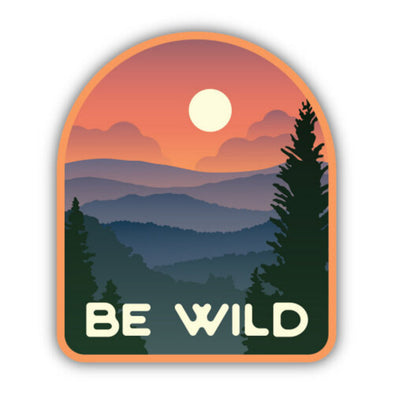 Be Wild Vista Sticker