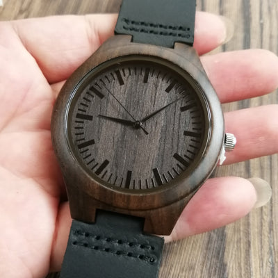 To My Grandson Engraved Wood Watch