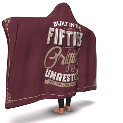Built in the Fifties Hooded Blanket
