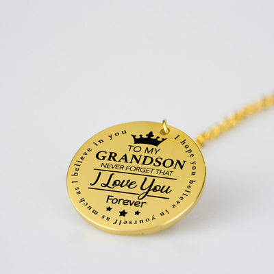To Grandson Love Pendant