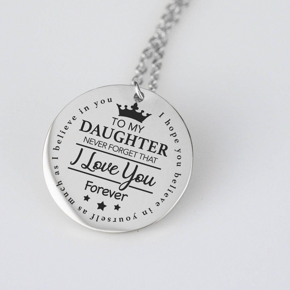To My Daughter Pendant