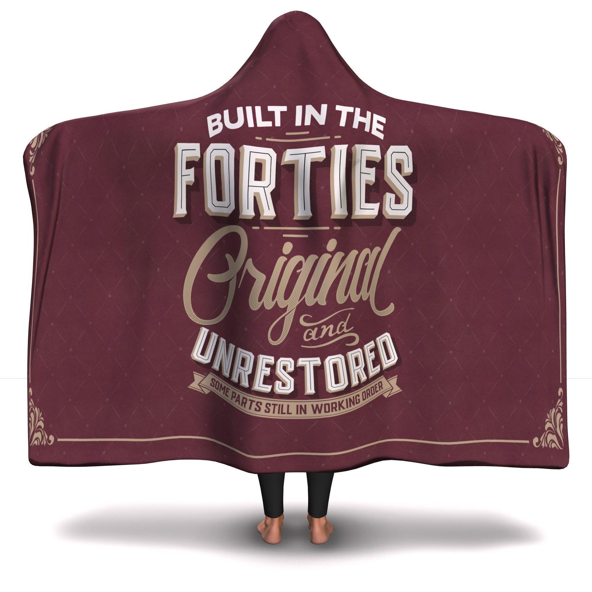 Built in the Forties Hooded Blanket