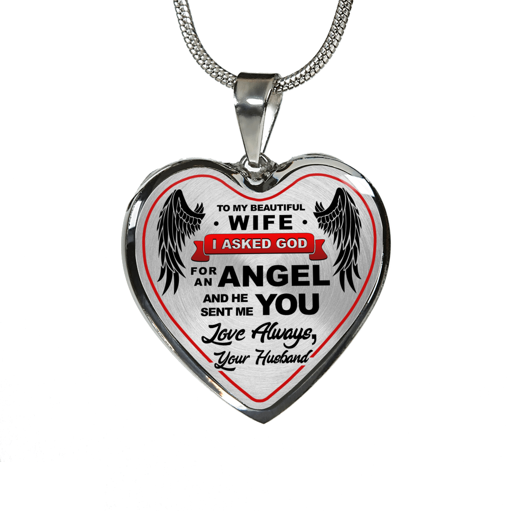 Silver Luxury Engravable Heart Necklace