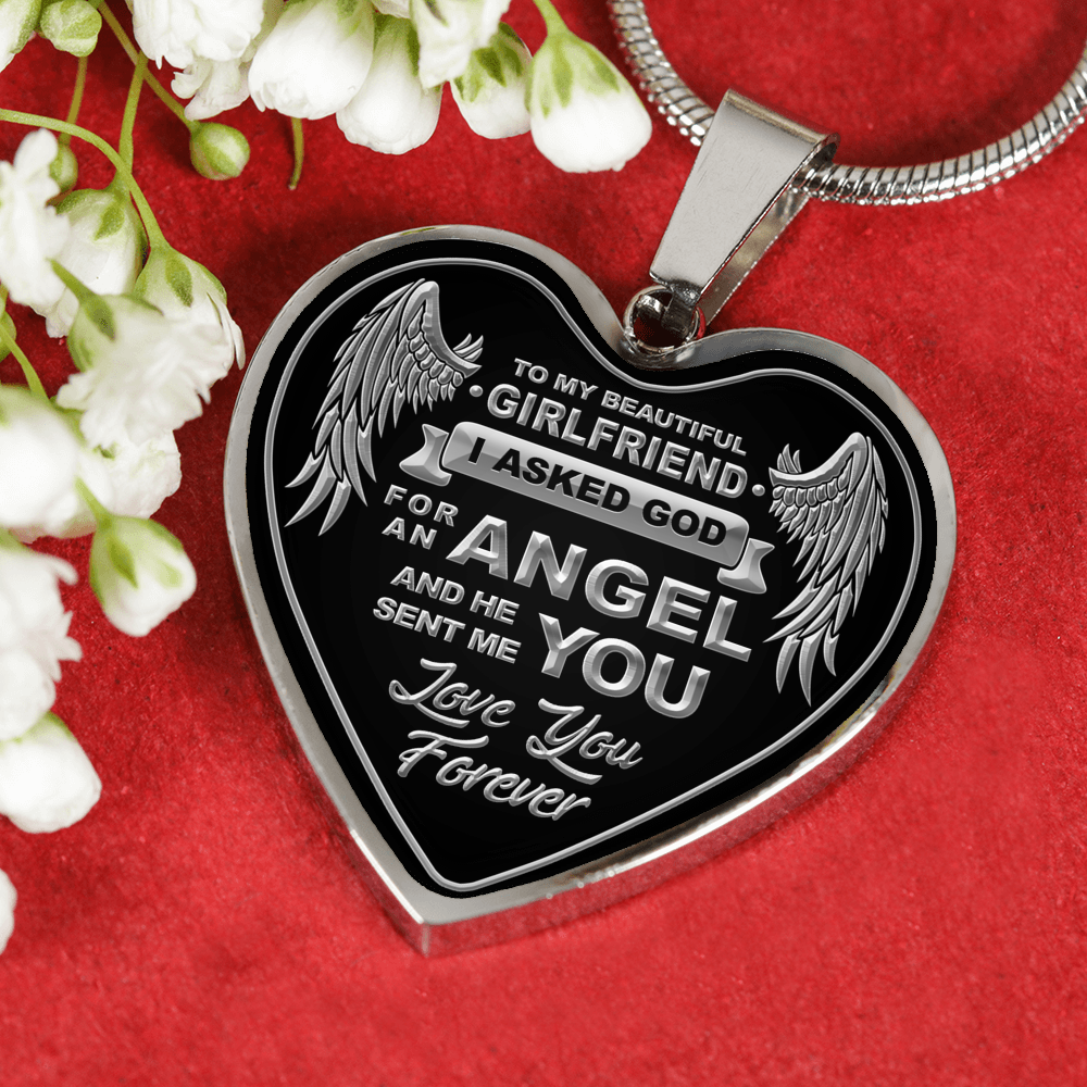 To My Girlfriend - Silver Engravable Necklace