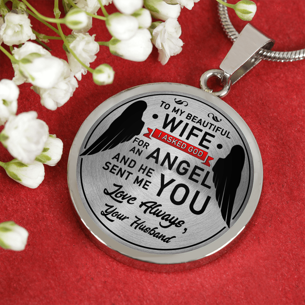 TO MY WIFE - ENGRAVED NECKLACE