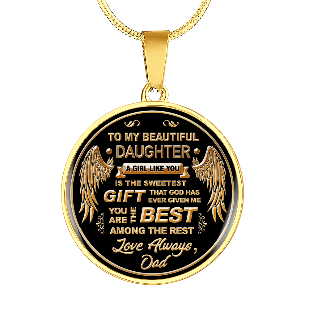 To My Daughter The Best Necklace