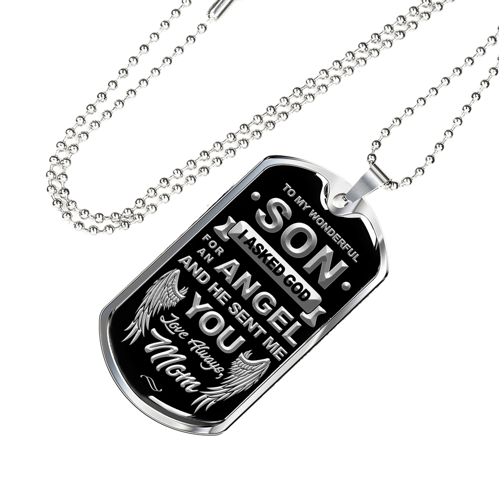 Mom to Son Dog Tag
