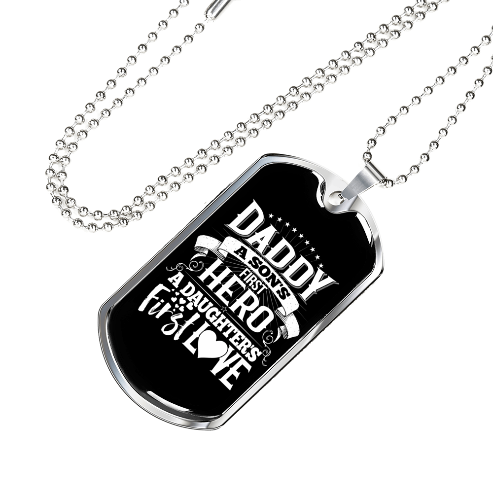 Daddy First Engravable Necklace