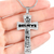 To My Son Engraveble Cross Necklace