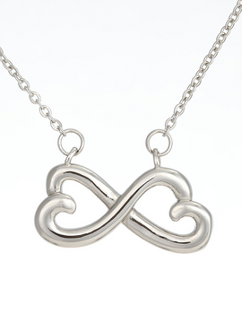 302-To Wife you make me smile Infinity Necklace