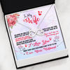 To Wife you make me smile Infinity Necklace