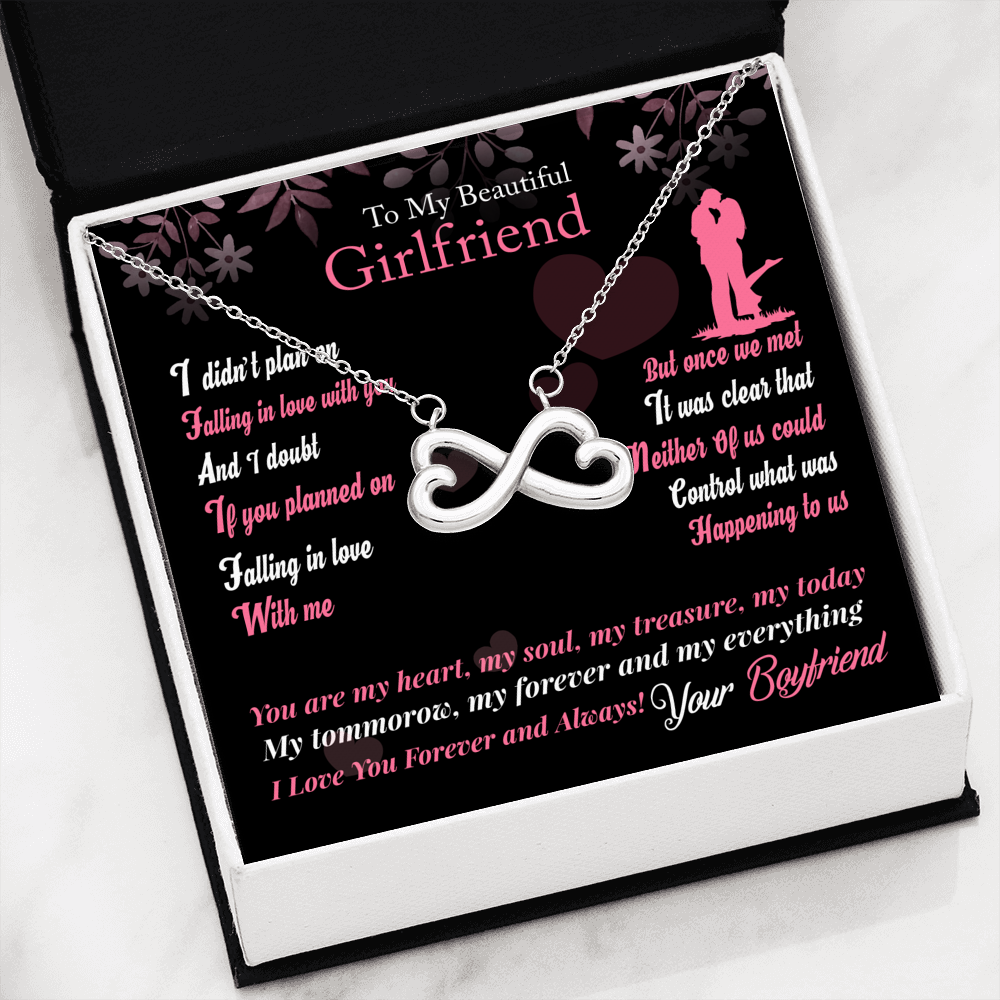 307-To Girlfriend You are my Forever and Everything Infinity Necklace