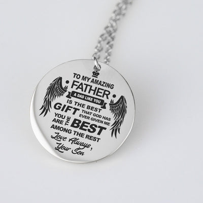 To Dad Love Son Pendant