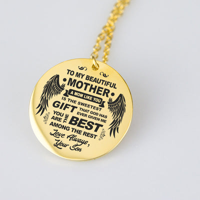 To Mom Love Son Pendant