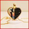 To My Daughter - God Sent Me You - Gold Heart Necklace