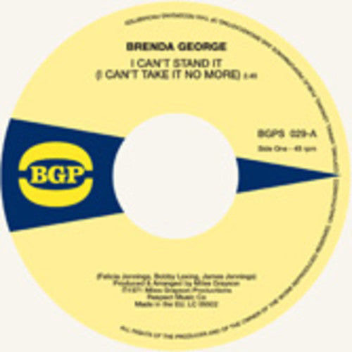 Brenda George: I Can't Stand It / What You See Is What You're
