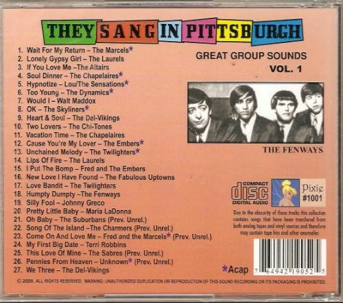 Various Artists: They Sang In Pittsburgh, Vol. 1