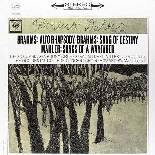 Bruno Walter: BRAHMS: ALTO RHAPSODY / SONG OF DESTINY & MAHLER - SONGS OF A WAYFARER(180 GRAM)