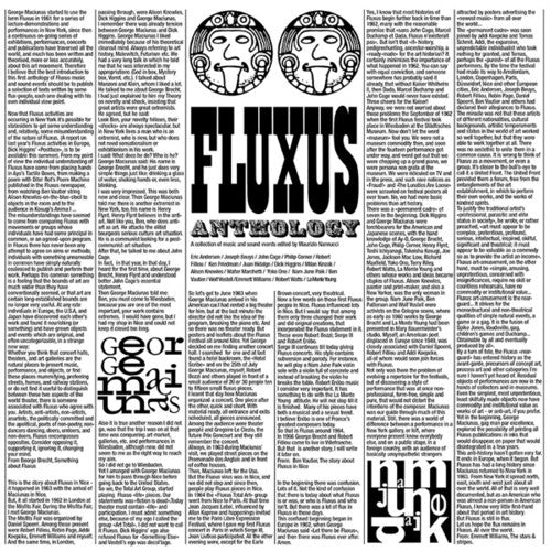Various Artists: Fluxus Anthology: Collection Of Music / Various