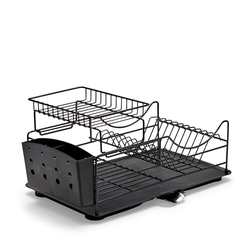 The SUBLIME Dishrack in black features a convenient stackable design, making it a space saving solution for your dishes and cutlery. Iron stand with PP tray; rust proof; angled surface for water drainage; unique stackable design. 52x30x26cm.| Bliss Gifts & Homewares | Unit 8, 259 Princes Hwy Ulladulla | South Coast NSW | Online Retail Gift & Homeware Shopping | 0427795959, 44541523