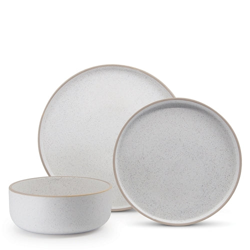 S&P | HANA Dinner 12 Piece Set - White | Stone | 46 x 21 cm | Bliss Gifts & Homewares | Milton | Online & In-store | 0427795959