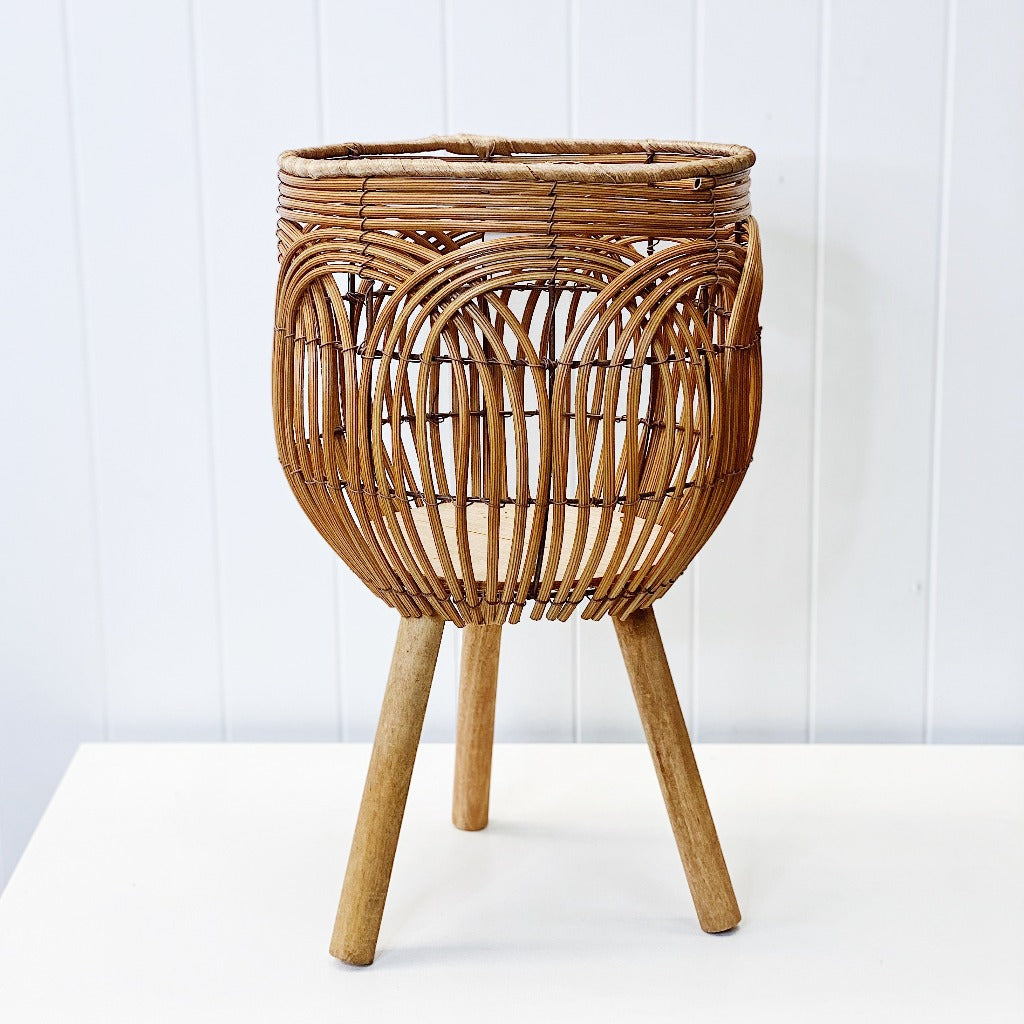 Introduce the latest natural styling trend in to your home, and create a welcoming and relaxed living vibe with our Amalfi Rattan Look Weave Basket Planter Stand in Small. With it's textured weave design it is equally at home indoors or outdoors under a covered area.| Bliss Gifts & Homewares | Unit 8, 259 Princes Hwy Ulladulla | South Coast NSW | Online Retail Gift & Homeware Shopping | 0427795959, 44541523