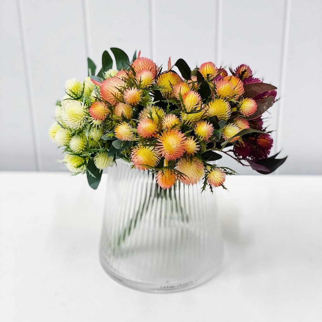 Brighten up any room with our stunning Artificial Protea which will prove that it's just as gorgeous as the real thing. Available in three colours. Approx 31cm tall.| Bliss Gifts & Homewares | Unit 8, 259 Princes Hwy Ulladulla | South Coast NSW | Online Retail Gift & Homeware Shopping | 0427795959, 44541523