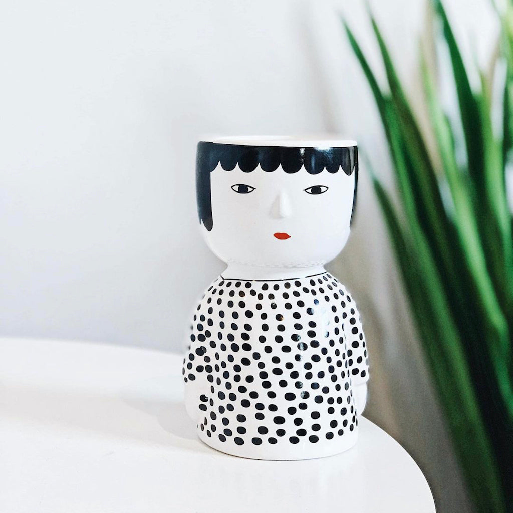 Add character and charm to any space with our Avery Body Pots. ThIS gorgeous ceramic pots will make the perfect addition to your indoor or outdoor garden. 10x8.5x15.6cm. Drainage hole, and plug. Ceramic.| Bliss Gifts & Homewares | Unit 8, 259 Princes Hwy Ulladulla | South Coast NSW | Online Retail Gift & Homeware Shopping | 0427795959, 44541523