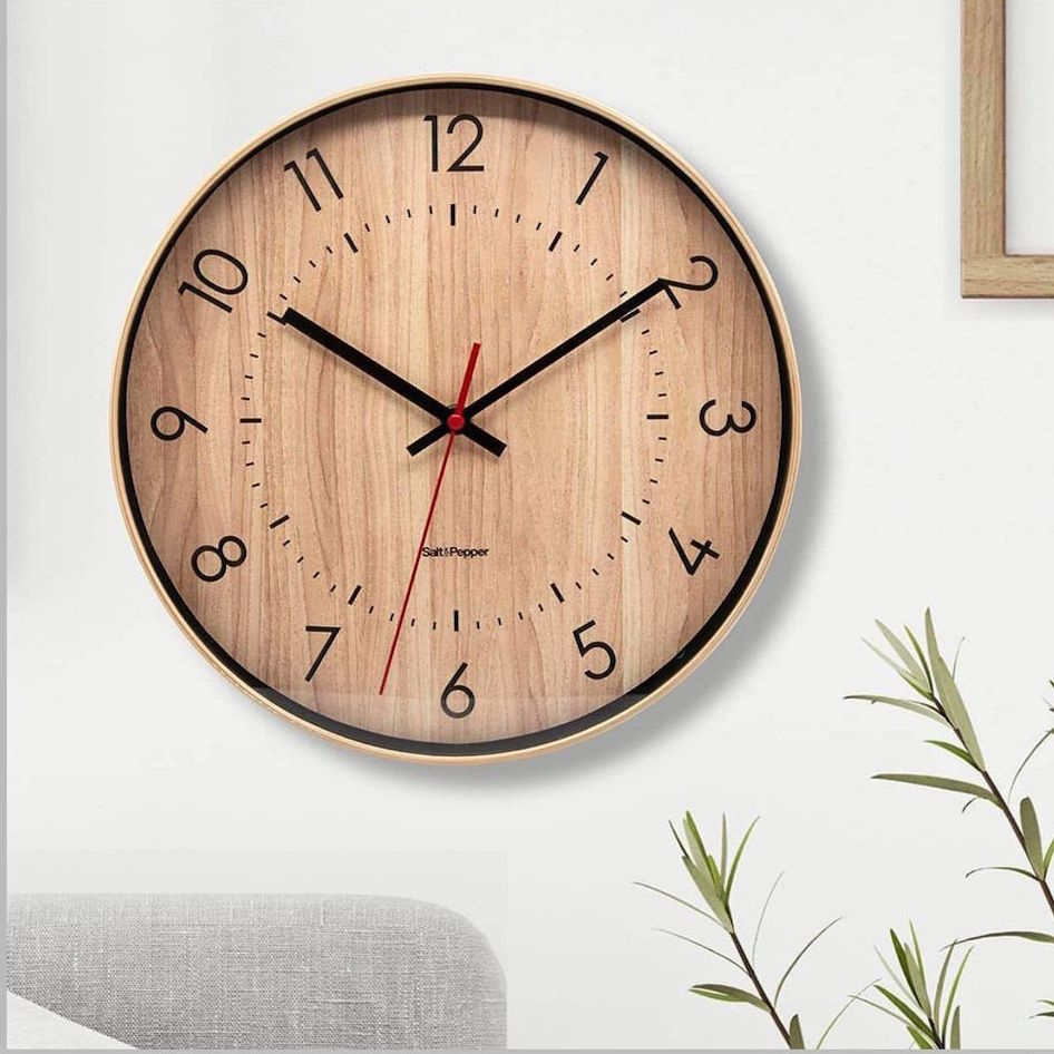 Accessorise your home and express your personality with the BAILEY Clock, apart of Salt&Pepper's ZONE collection. Black and red hands against a light brown 'wood look' face. 31cm. Shop online or instore. AfterPay available. Australia wide Shipping. | Bliss Gifts & Homewares | Unit 8, 259 Princes Hwy Ulladulla | South Coast NSW | 0427795959, 44541523