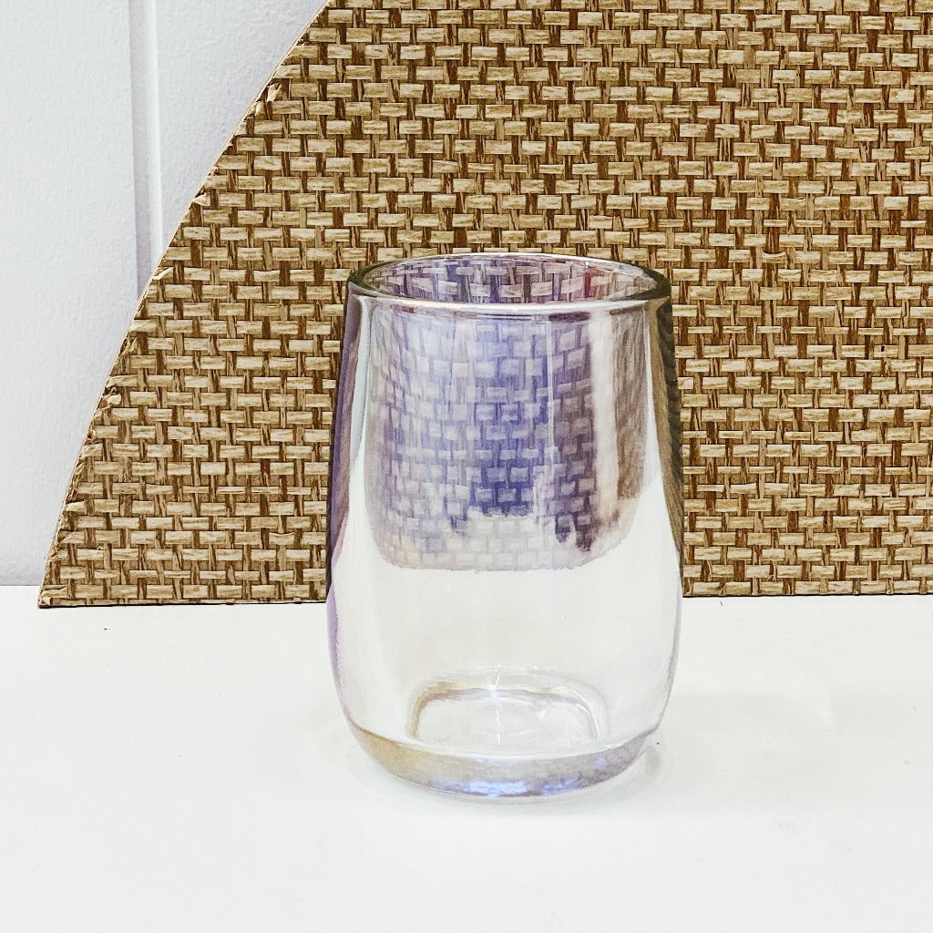 Create a dreamy bathroom with the Barcelona Glass Tumbler. In brilliant lustre glass in an organic bulb-like shape, this 8x10.5cm tumbler has a radiance that will make your existing decor shine.| Bliss Gifts & Homewares | Unit 8, 259 Princes Hwy Ulladulla | South Coast NSW | Online Retail Gift & Homeware Shopping | 0427795959, 44541523