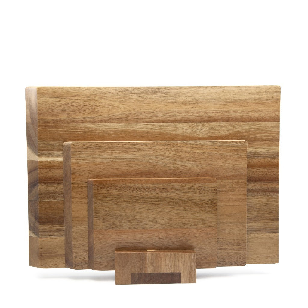 Beacon 4 Piece Acacia Chopping Board Set - Salt&Pepper - crafted from fine-quality acacia wood - Each cutting board comes in a varied size - Set of 4 |Bliss Gifts & Homewares - Unit 8, 259 Princes Hwy Ulladulla - Shop Online & In store - 0427795959, 44541523 - Australia wide shipping