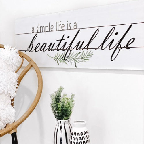 Greet your guests with our Beautiful Life Wood-Panelled Wall Art to make them feel welcome. Once typically found only in rustic or farmhouse style decor settings, this wall art will easily fit into even the most contemporary of homes or offices. Measures 100x2x30cm | Bliss Gifts & Homewares | Unit 8, 259 Princes Hwy Ulladulla | South Coast NSW | Online Retail Gift & Homeware Shopping | 0427795959, 44541523