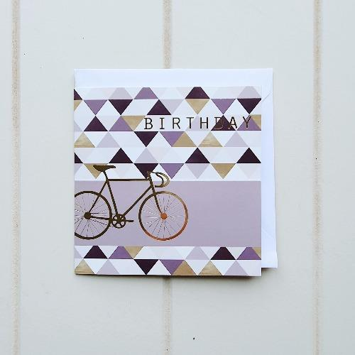 Birthday Bicycle Greeting Card. Square happy birthday card with a simple yet elegant bicycle design on the front cover. Card comes blank on the inside, perfect amount of space inside to write a nice, sentimental birthday message. | Bliss Gifts & Homewares | Unit 8, 259 Princes Hwy Ulladulla | South Coast NSW | Online Retail Gift & Homeware Shopping | 0427795959, 44541523