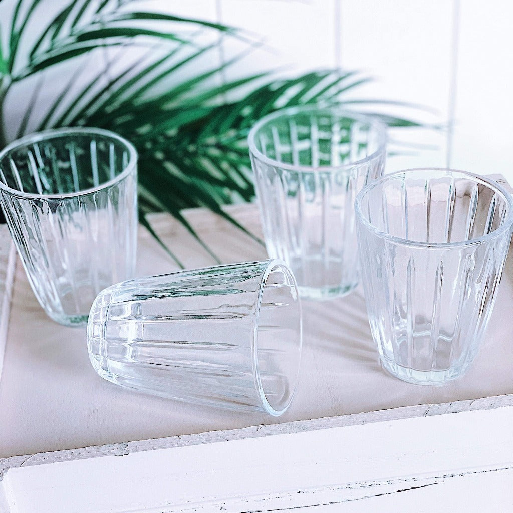 S&P | CELINE 220ml Tumbler | Set of 4 | Clear| Bliss Gifts & Homewares | Unit 8, 259 Princes Hwy Ulladulla | South Coast NSW | Online Retail Gift & Homeware Shopping | 0427795959, 44541523