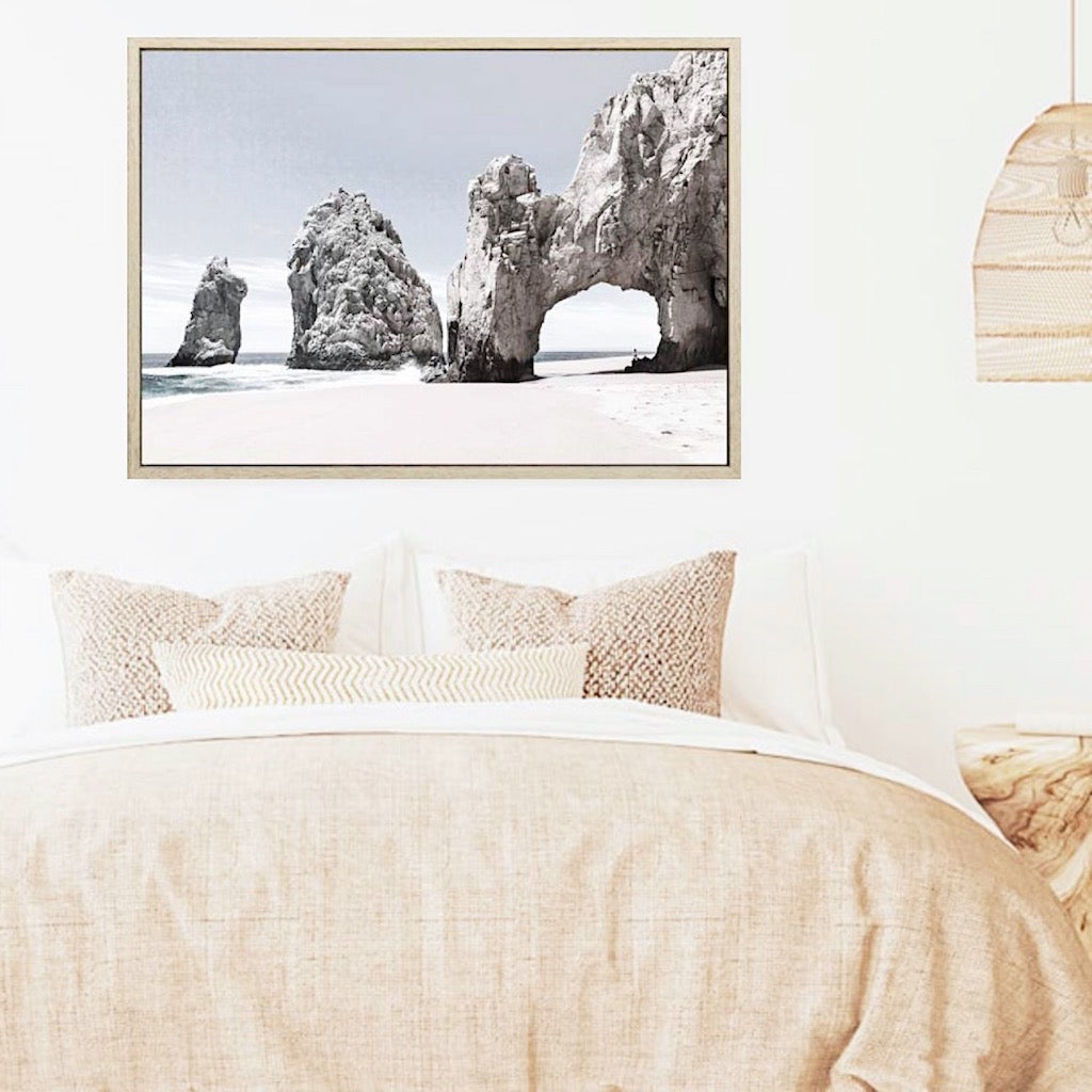 Create a vacation view in your own home with our Cabo San Lucas Canvas. The arch of Cabo San Lucas, is a distinctive rock formation at the southern tip of Cabo San Lucas, which is itself the extreme southern end of Mexico's Baja California Peninsula. 1.20 x 80cm.| Bliss Gifts & Homewares | Unit 8, 259 Princes Hwy Ulladulla | South Coast NSW | Online Retail Gift & Homeware Shopping | 0427795959, 44541523
