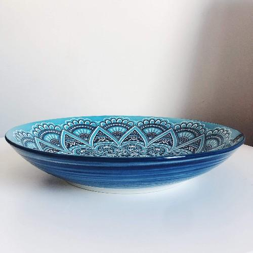 Bring the bright blue tones of the mediterranean into your dining room with our Casablanca Dining collection - Round Serving Platter. Beautiful pieces of serving ware that will have you entertaining for years to come. Online & In-store. AfterPay now available.