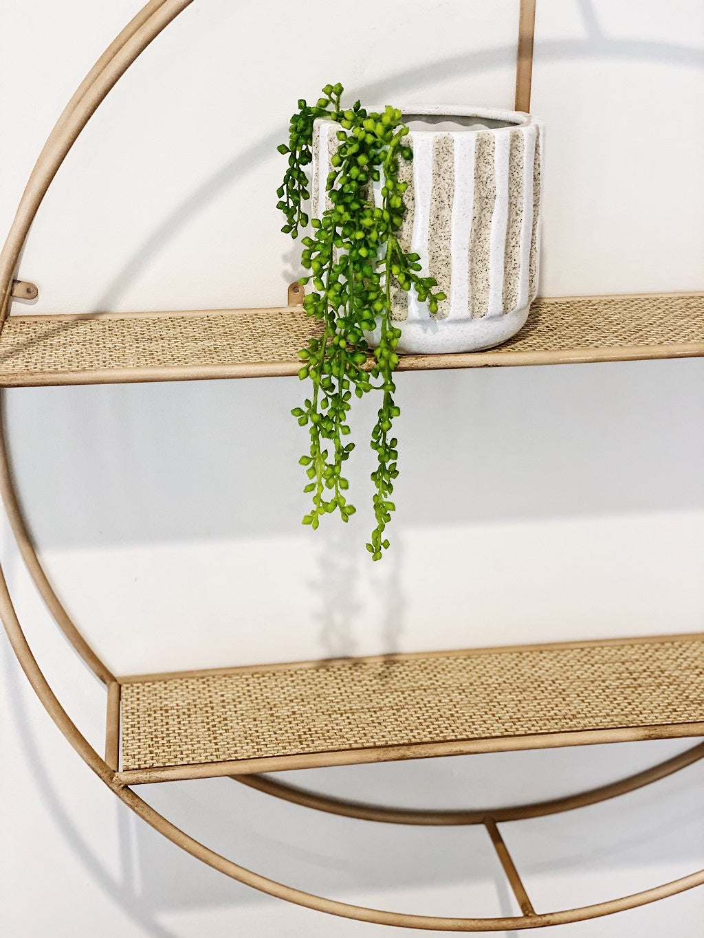 Our stunning Cassidy Round Cane-Look Floating Wall Shelves is the statement piece you just can't help but fall in love with, intricate detail to a gorgeous aesthetic but also versatile as you can restyle to suit your changing decor. 80x15cm. Shop Online & In-store. AfterPay Available. Australia Wide Shipping | Bliss Gifts & Homewares | Unit 8, 259 Princes Hwy Ulladulla | South Coast NSW | 0427795959, 44541523