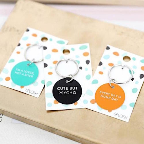 Pamper your pooch in style with our colourful Pet Sorry Dog ID Tag, featuring quirky quotes any pet lover will adore! These dog ID tags not only add a splash of colour to the collar, but are also easy to engrave! Size: 3 x 0.01 x 5.5.cm. Engravable metal dog tag with quirky quote | Bliss Gifts & Homewares | Unit 8, 259 Princes Hwy Ulladulla | South Coast NSW | Online Retail Gift & Homeware Shopping | 0427795959, 44541523