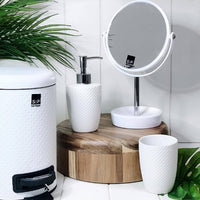 S&P | SPOT 3lt Pedal Bin | Bathroom Bin | White | White embossed spot pattern | Bliss Gifts & Homewares | Milton | Online & In-store | 0427795959 | Afterpay available