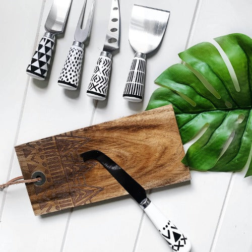 S&P | EMPIRE Cheese Board & Knife Set | set of 2 | 22x10cm EMPIRE board| Bliss Gifts & Homewares | Unit 8, 259 Princes Hwy Ulladulla | South Coast NSW | Online Retail Gift & Homeware Shopping | 0427795959, 44541523