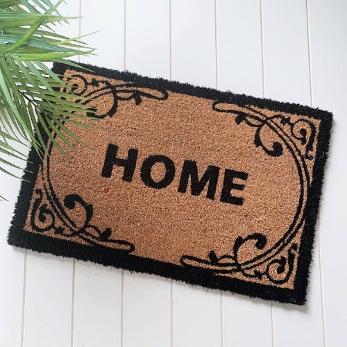 Style your front entrance, the first impression of your home, with our Filigree Home Door Mat from our range of affordable door mats. Interesting, on trend designs in a variety of sizes, make finding a door mat to compliment your home easy. Measures: 40x60x1cm. | Bliss Gifts & Homewares | Milton | Online | 0427795959 | Afterpay available